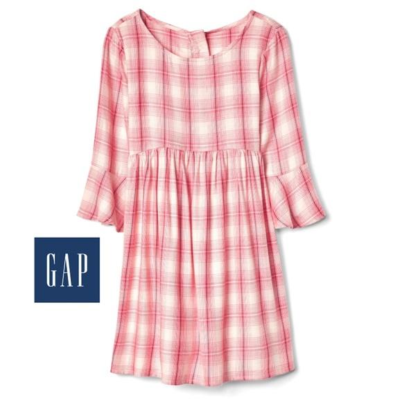 GAP Other - Bell sleeve Plaid dress